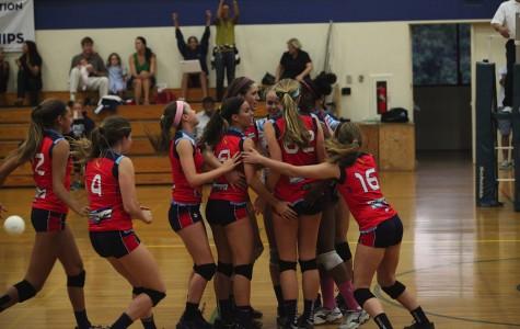 Volleyball victory over Marlborough