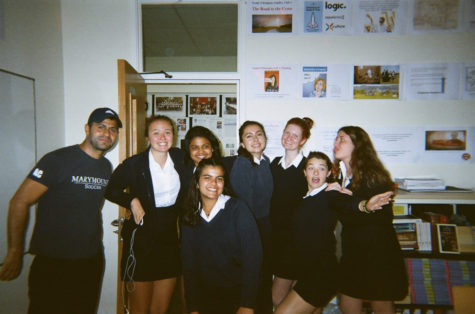 My PE class and I with our PE teacher, taken by another student.
