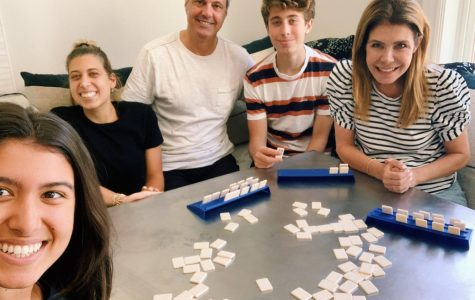 A photo of Allie's family doing their favorite quarantine activity: playing rummikub. Courtesy of Allie Longo '20