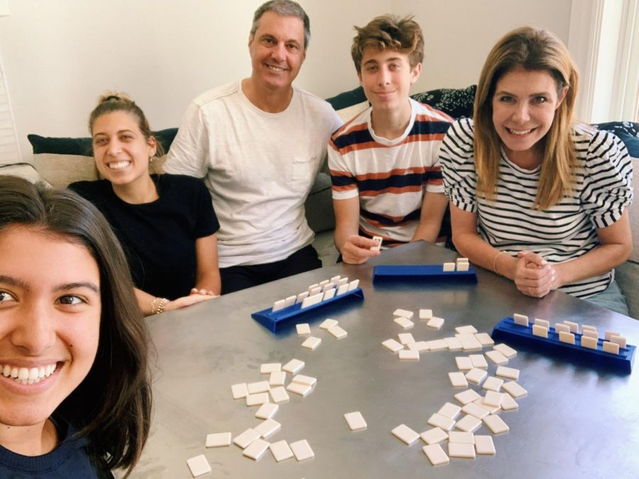A+photo+of+Allie%27s+family+doing+their+favorite+quarantine+activity%3A+playing+rummikub.+Courtesy+of+Allie+Longo+%2720