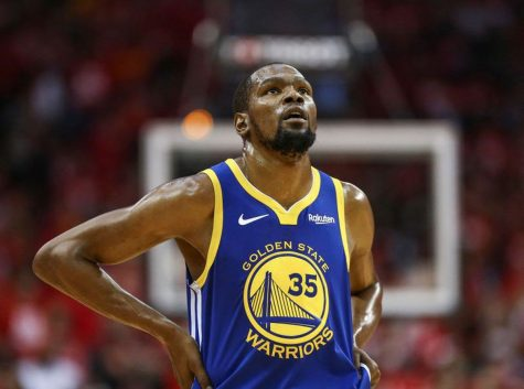 Kevin Durant tests positive for Covid-19 and is the biggest name in the sports world to test positive as of right now. (USA Today)