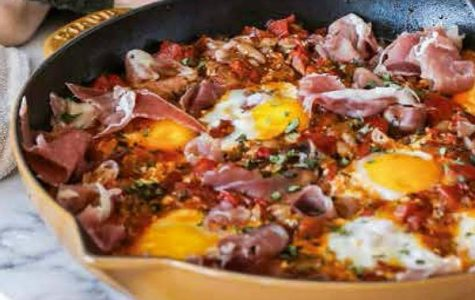 Skillet and tomato eggs courtesy of The Happy Foodie (UK)