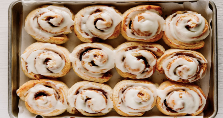 This is what the product of the Cinnamon Roles should look like if the recipe is following step by step! Courtesy of Melanie DeFazio/Stocksy.