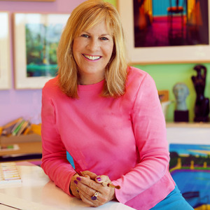 Jane Gottlieb poses for Curbed Magazine in a showcase of her home and art.