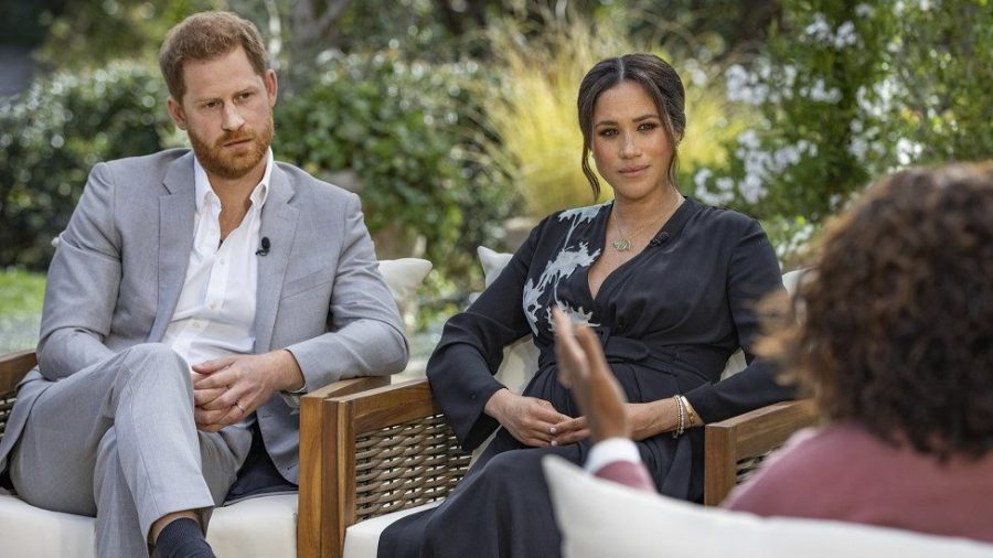 Meghan and Harry sit down to discuss their recent departure from the royal family with Oprah.